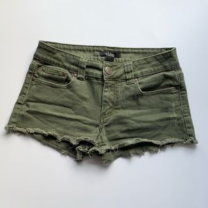 Forever 21 green cut off shorts size